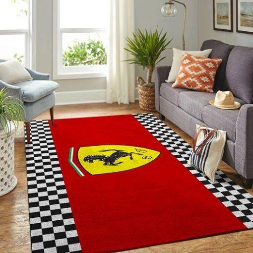 Scuderia Ferrari Rug All Over Print Logo Custom Area Rug Carpet Full Sizes Home Living Rug Carpet Decor Herashine